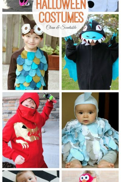 Great collection of no sew Halloween costumes. Easy and inexpensive ideas that anyone can do! // cleanandscentsible.com