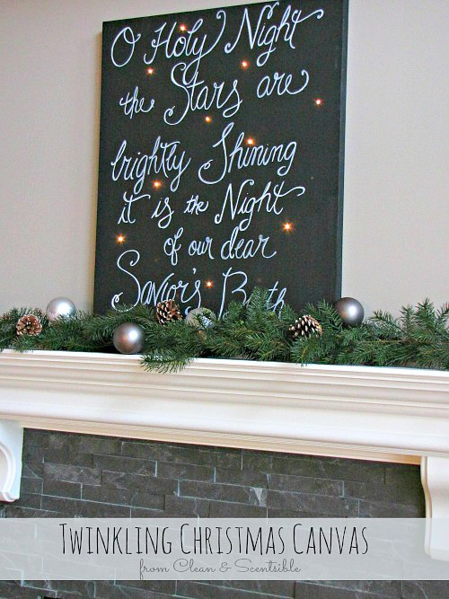 Twinkling Christmas Canvas. // cleanandscentsible.com