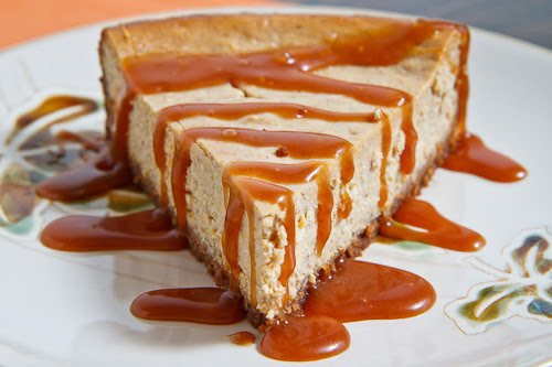 Pumpkin Cheesecake with Caramel Sauce 1 500