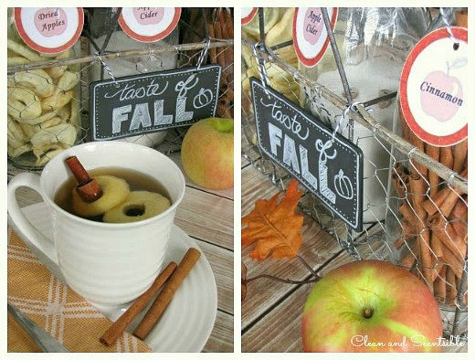 Fall Apple Cider Bar. // cleanandscentsible.com