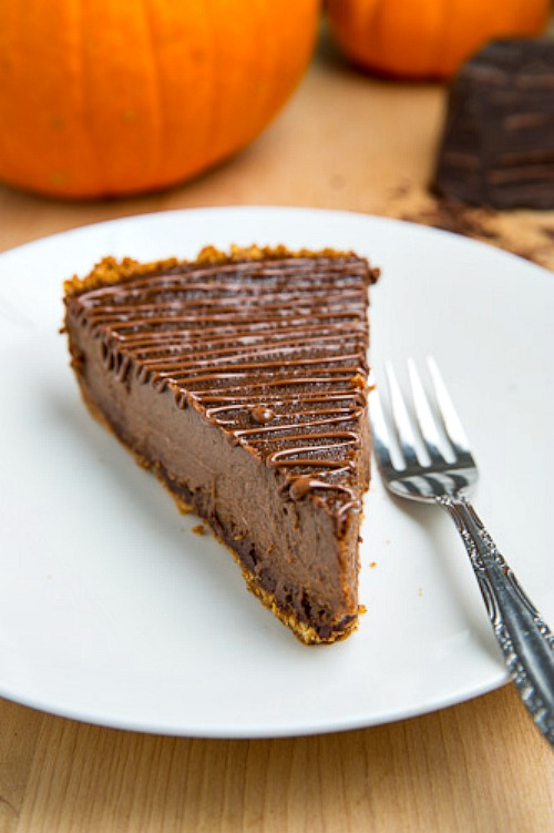 Triple Chocolate Pumpkin Pie from Closet Cooking.
