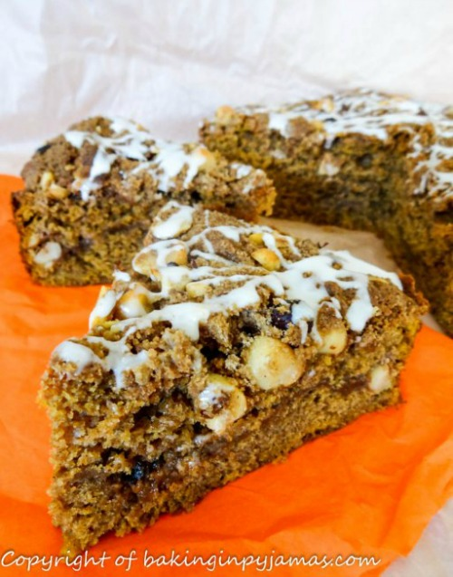 Pumpkin Coffee Cake with Brown Sugar Hazelnut Streusel from Baking in ...