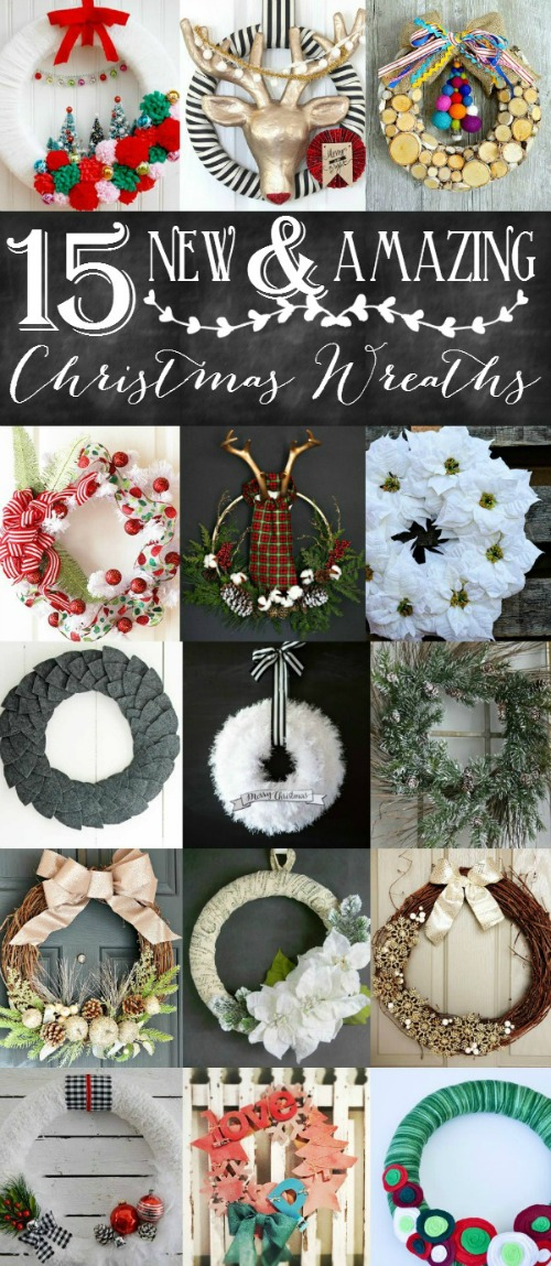 Beautiful collection of Christmas wreath inspiration! // cleanandscentsible.com