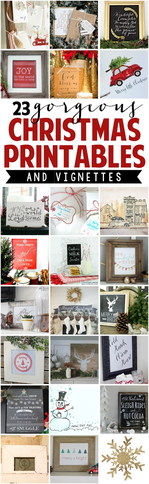 Beautiful collection of free Christmas printables! // cleanandscentsible.com