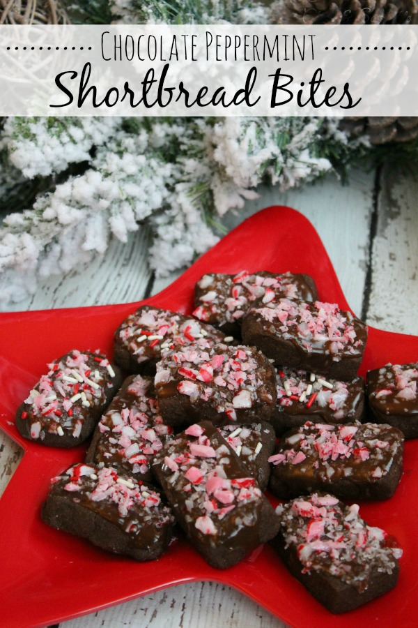 Chocolate Peppermint Shortbread Bits Featured on Design Dazzle