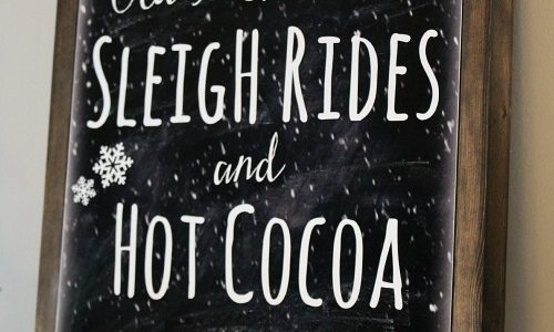 Free Sleigh Ride Printable and DIY Canvas Sign