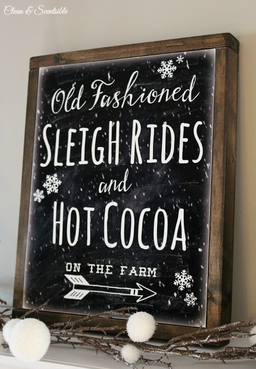 Free Sleigh Ride Printable And Diy Canvas Sign Clean And