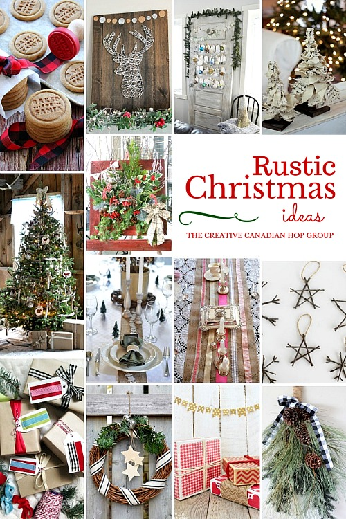 Wonderful collection of DIY rustic Christmas ideas.