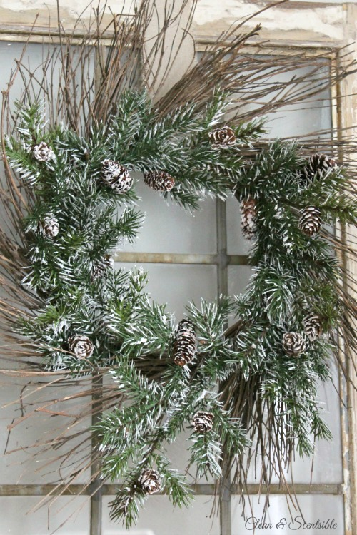 Rustic christmas wreath and hop clean scentsible