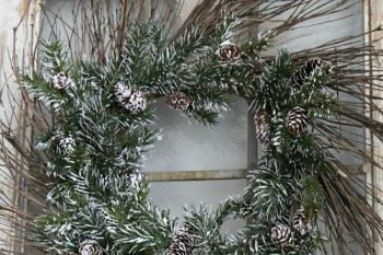 Rustic Christmas Wreath and Blog Hop