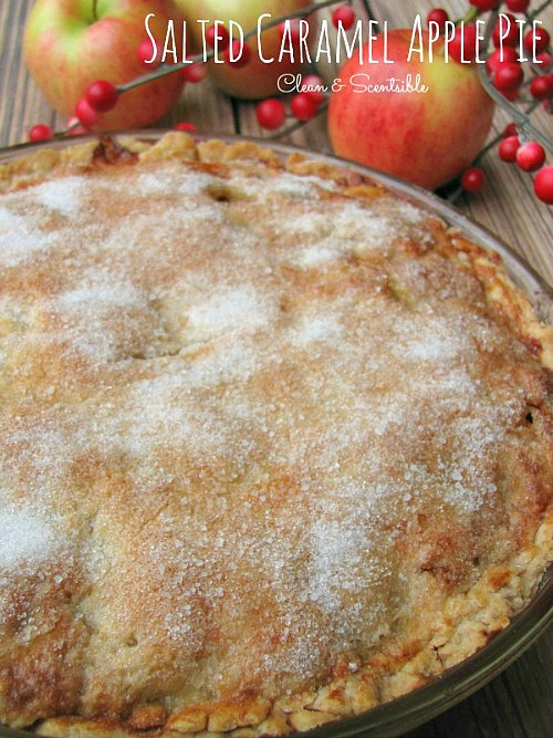 Salted caramel apple pie. Perfect for holiday desserts!