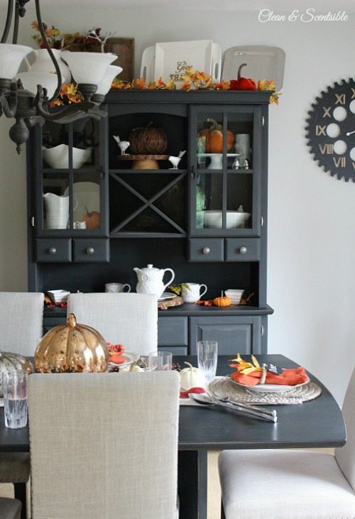 Beautiful Fall And Thanksgiving Tablescape Dining Room Ideas Cleanandscentsible