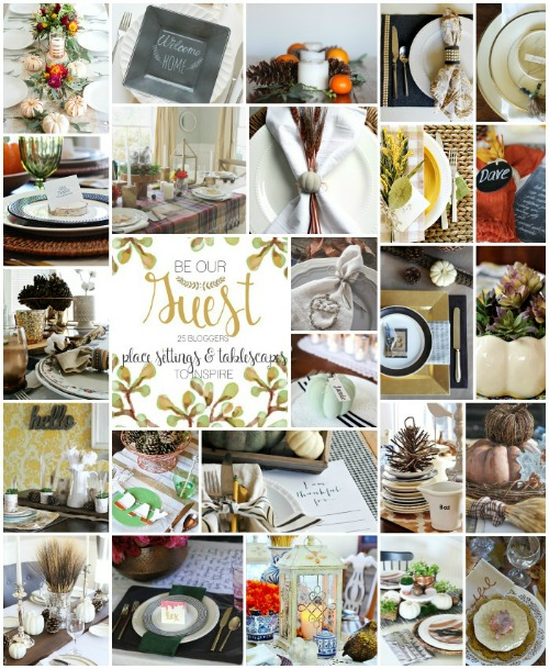 Tons of beautiful Thanksgiving table settings and tablescape ideas! // cleanandscentsible.com