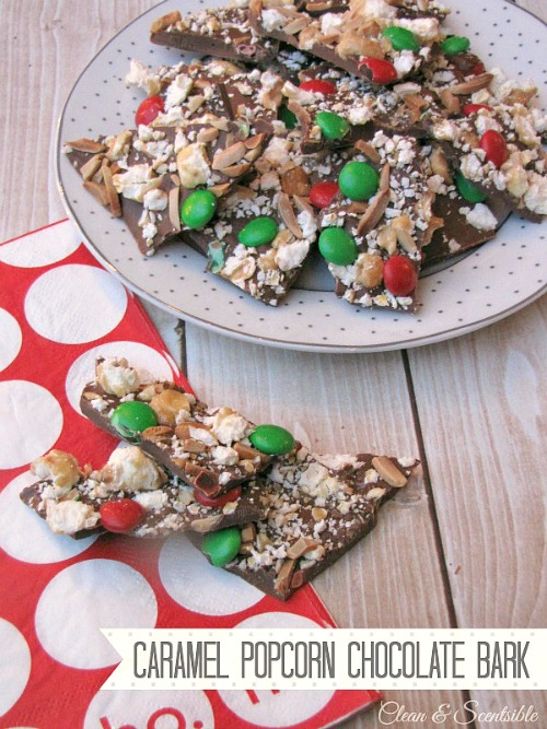 Caramel Popcorn Chocolate bark. This is so good! Just package it up for a yummy teacher or hostess gift.