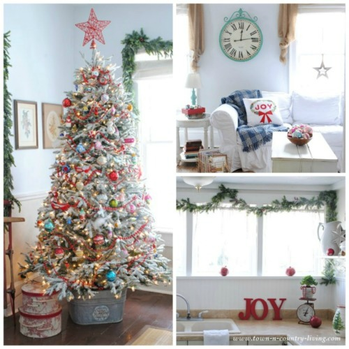 Christmas Home Tour from Town and Country Living.
