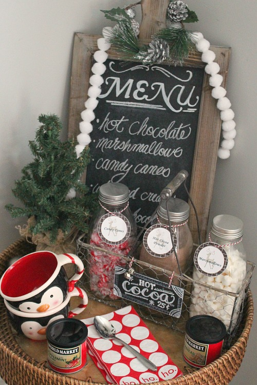 Love this simple hot chocolate bar idea!
