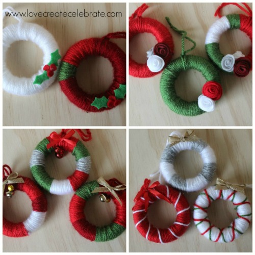 Giveaways For Christmas Party: Yarn Wreath Party Favors