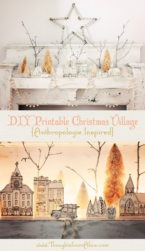 Printable Christmas village - this is amazing!