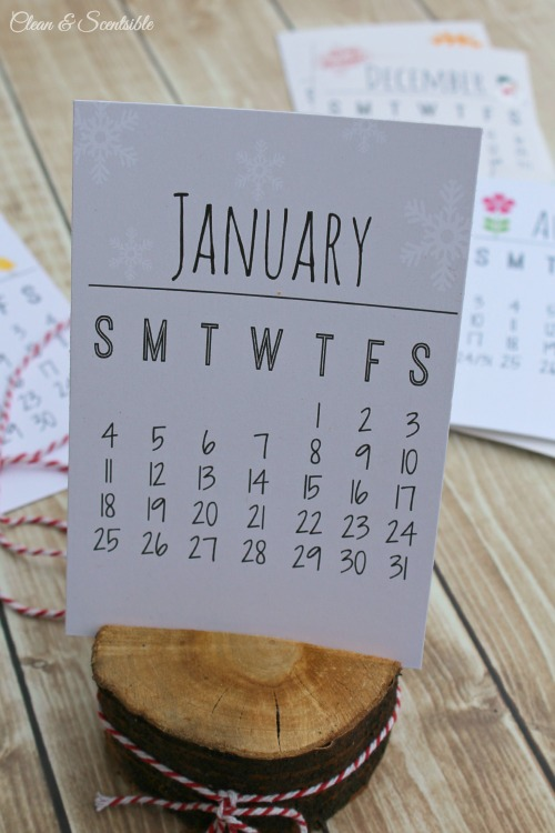 all you need to do is print out the monthly calendars trim them up ...