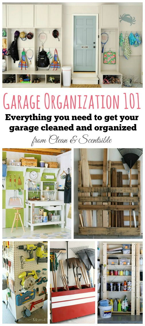 Lots of ideas and a printable to-do list to help you get your garage cleaned and organized. // cleanandscentsible.com