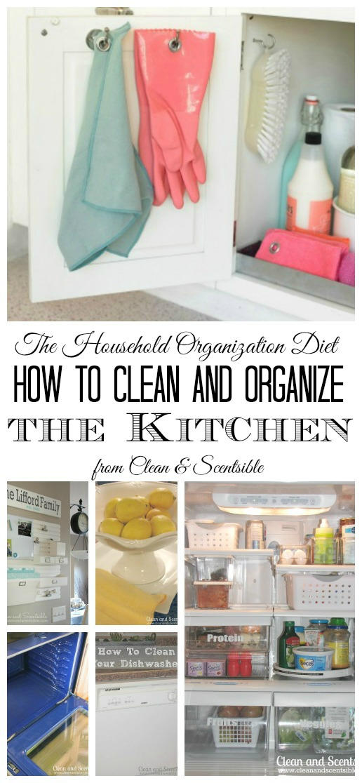 Everything you need to get your kitchen cleaned and organized! //cleanandscentsible.com