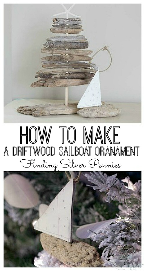Adorable driftwood ornament.