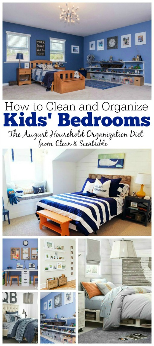 Lots of tips and ideas for cleaning and organizing kids' rooms and free printables included. // cleanandscentsible.com