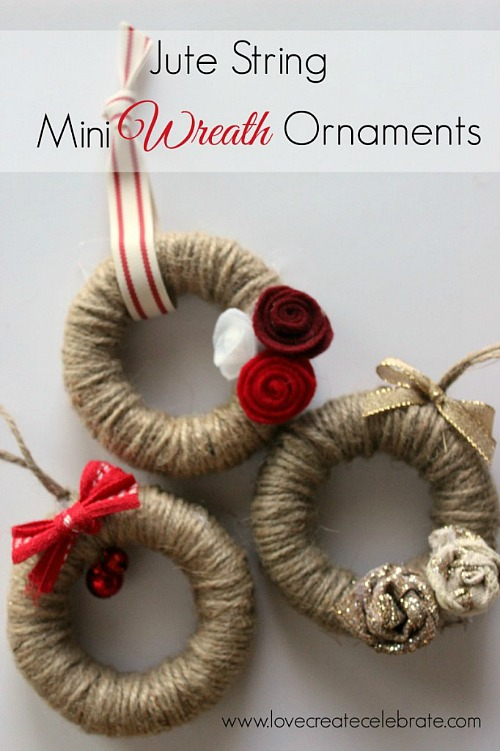 Jute String Mini Ornaments.