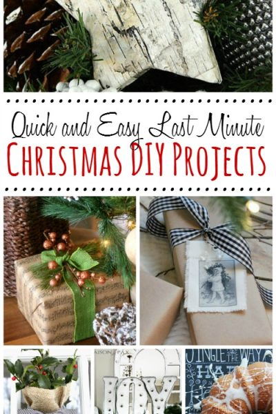 Last Minute Christmas DIY Projects