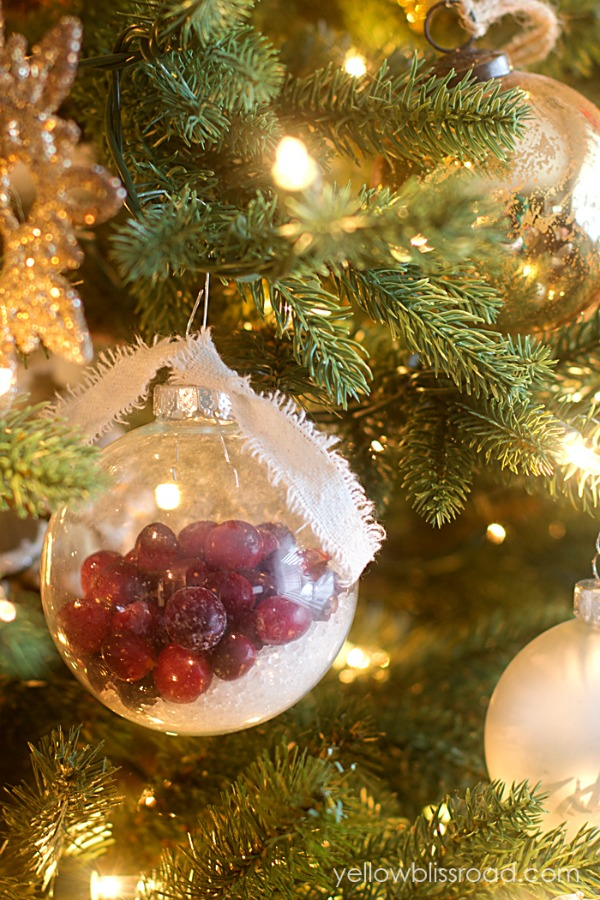 snowy cranberry ornaments clean and scentsible