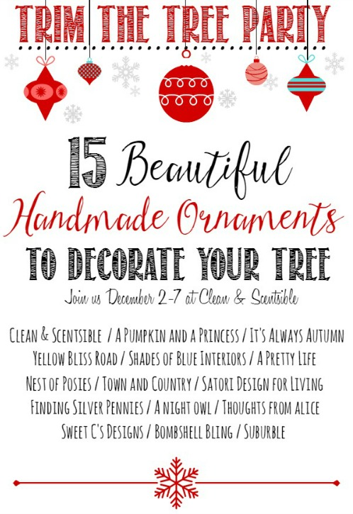 Beautiful handmade ornament ideas to decorate your tree! // cleanandscentsible.com