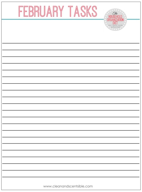 Free printables for a cleaning binder!