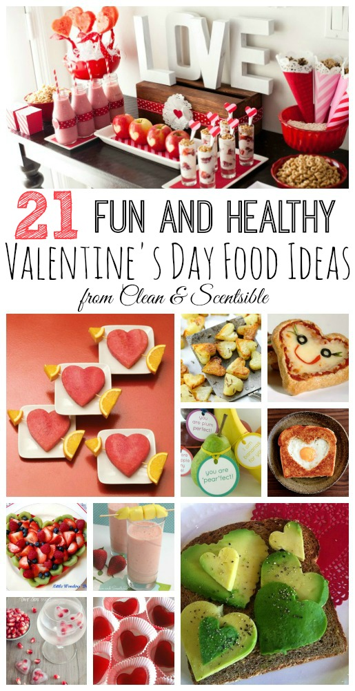Lots of fun and healthy Valentine's Day food ideas!  // cleanandscentsible.com