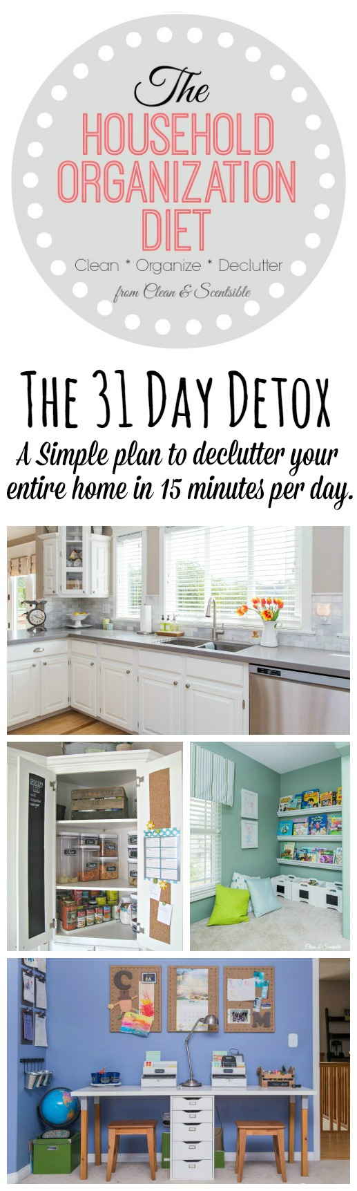 Dcluttered and organized kitchen, pantry, and kids' bedrooms.