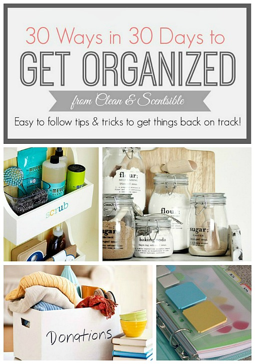 Simple tips and tricks to help get things organized! // cleanandscentsible.com