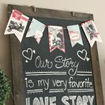 Cute Valentine's Day Chalkboard with Photo Bunting. // cleanandscentsible.com