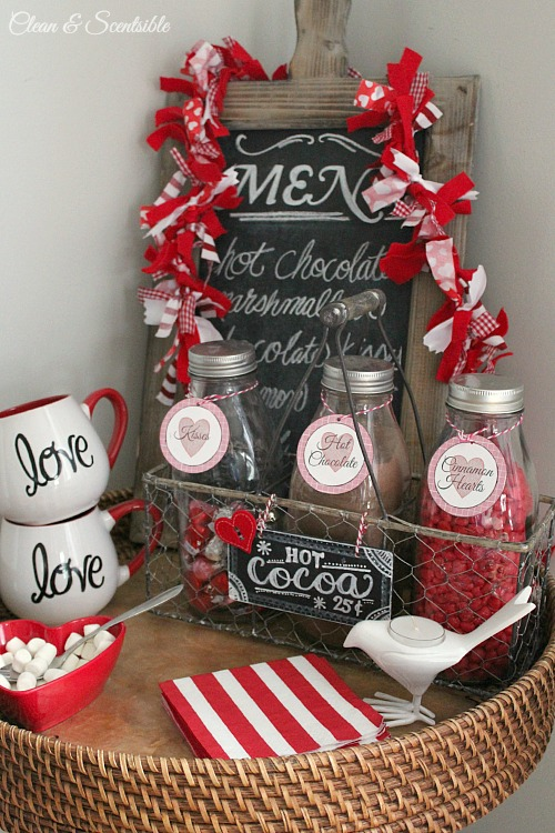 Valentine\'s Day Decor Ideas - Clean and Scentsible