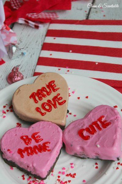 Valentine's Day Ice Cream Love Hearts
