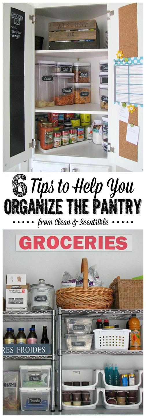 Practical ideas to organize your small pantry space. // cleanand