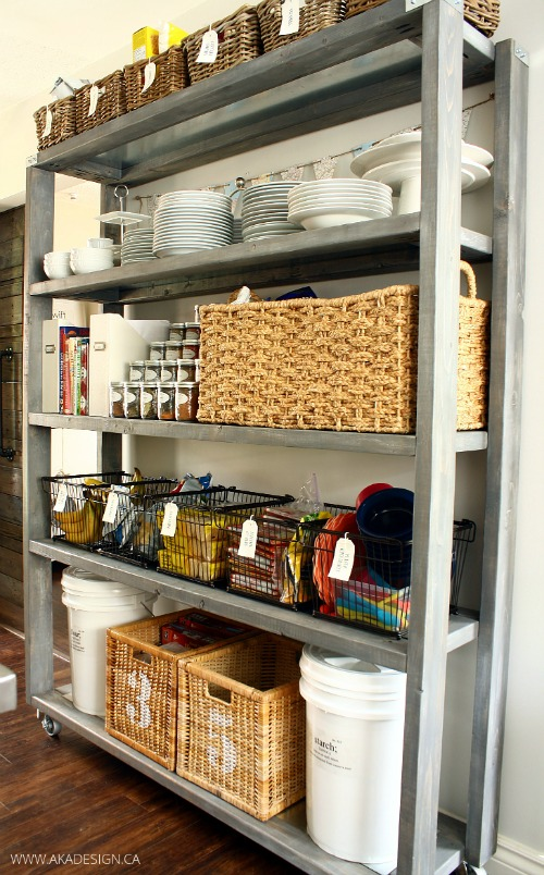 open kitchen pantry shelving design ideas | Pantry Organization Tips - Clean and Scentsible