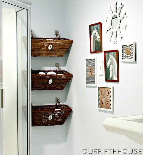 eautiful and functional bathroom storage ideas.  Love these!  // cleanandscentsible.com