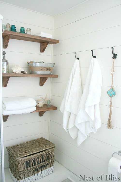 Amazing Beautiful and functional bathroom storage ideas Love these cleanandscentsible
