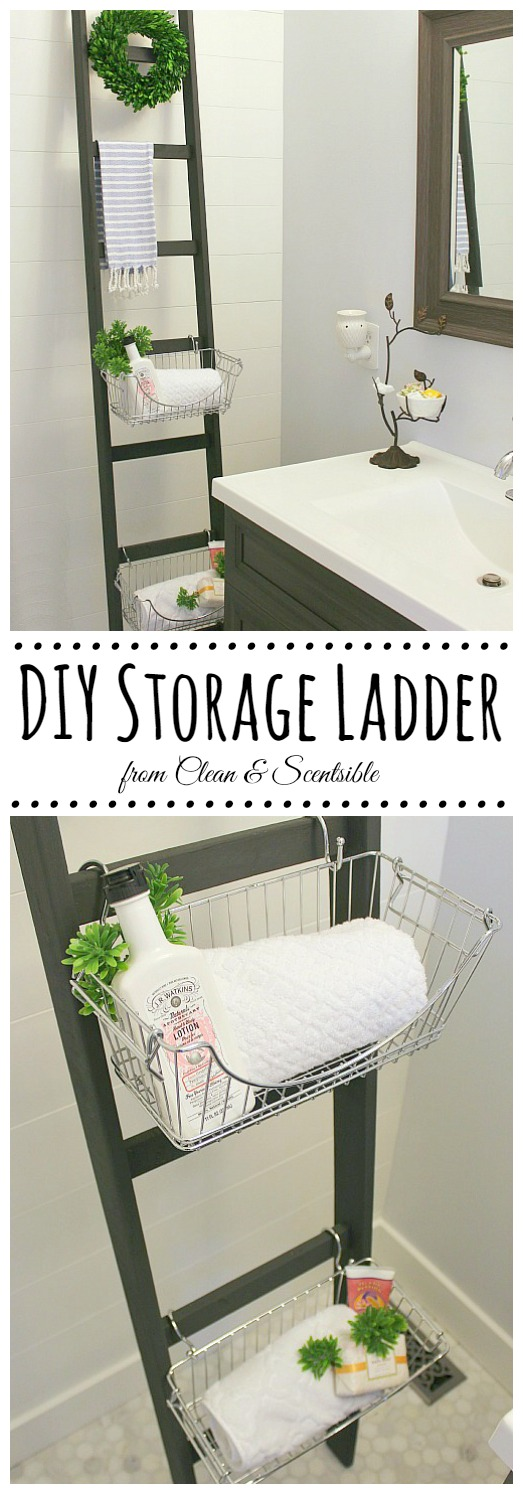 Love The Look Of This DIY Ladder! Such A Great Way To Add Some Extra