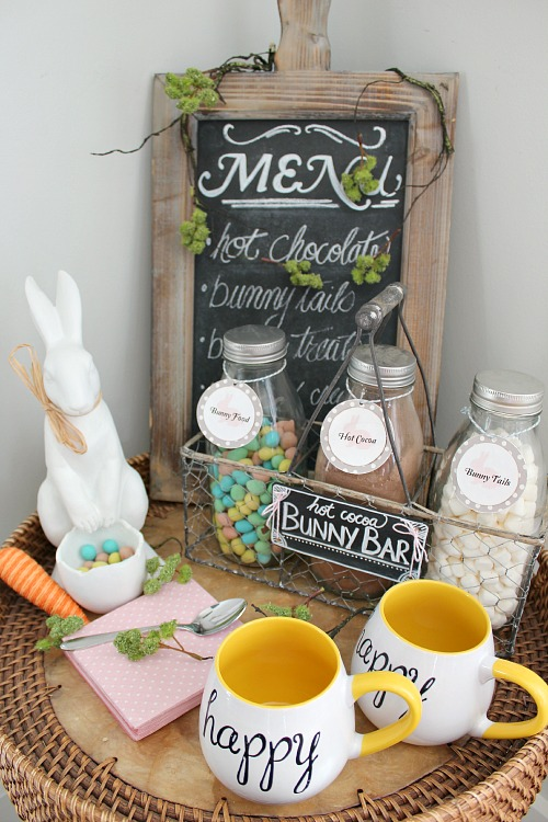 This Easter hot chocolate bar is adorable!