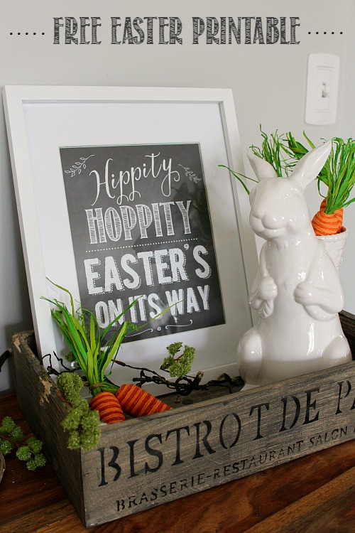 Cute chalkboard Easter printable and decor ideas!  // cleanandscentsible.com