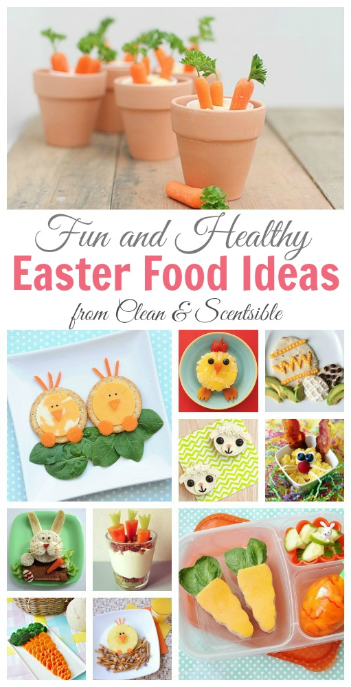 Take a break from the Easter candy with these fun and healthy Easter food ideas! // cleanandscentsible.com