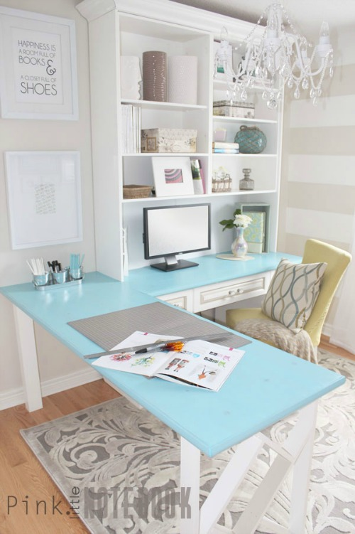 Beautiful office inspiration ideas to help get your office spaces pretty and organized!