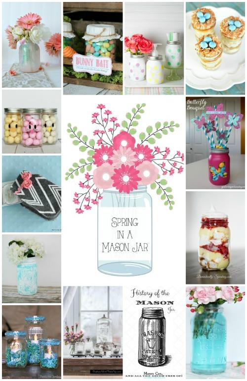 Pretty mason jar ideas for spring!