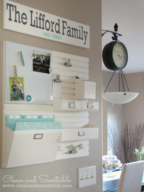 Great ideas for organizing all of that paper clutter! //cleanandscentsible.com