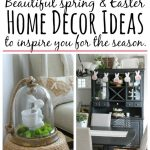 Beautiful ideas to decorate your home for spring and Easter! // cleanandscentsible.com